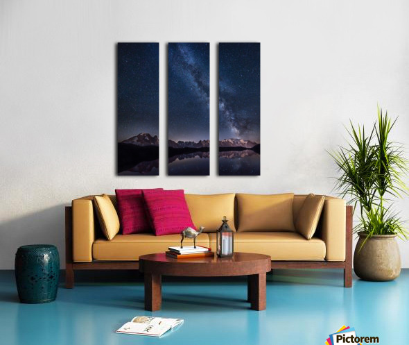 Lost in the stars Split Canvas print