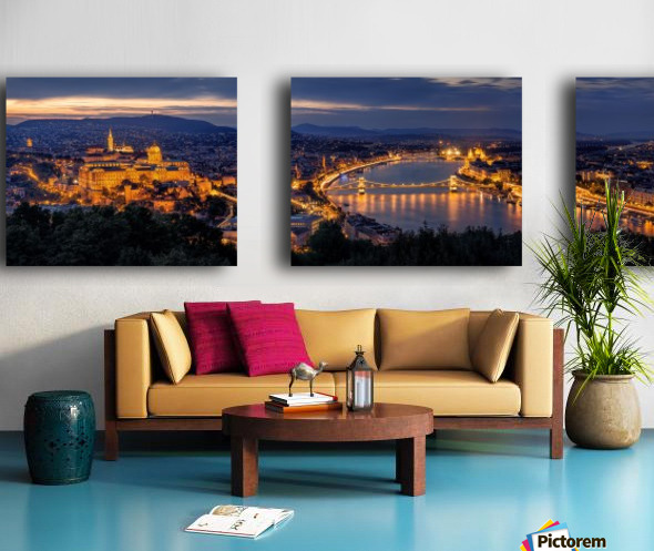 Panorama of Budapest Split Canvas print
