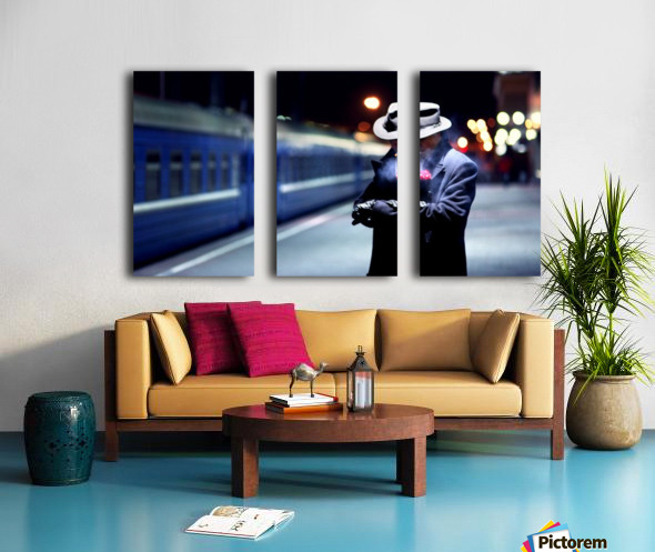 Noir Split Canvas print