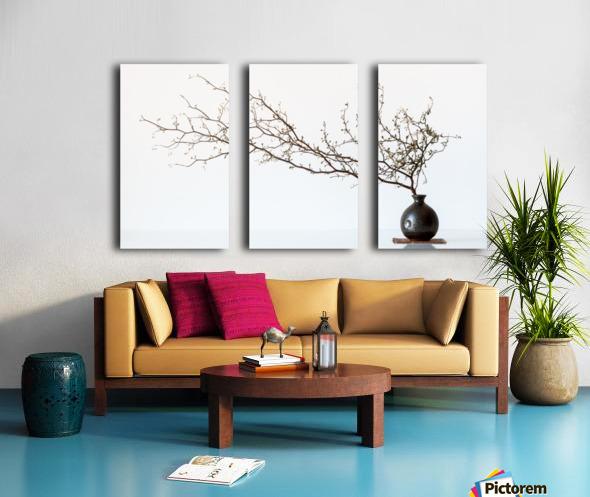 Vase And Branch Split Canvas print