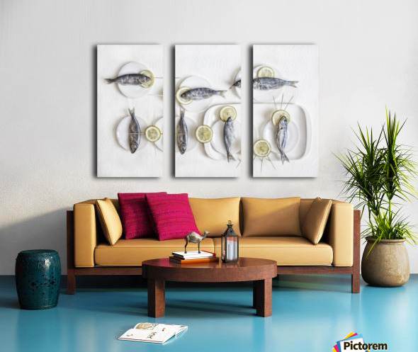 Still Life with Fish Split Canvas print