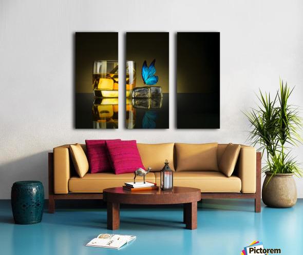 Butterfly Drink Split Canvas print