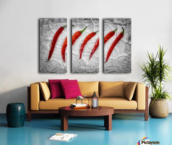 Frozen fire Split Canvas print