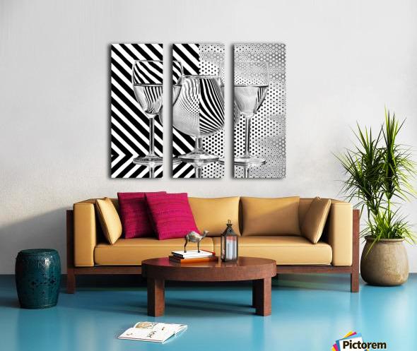 Dots and stripes Split Canvas print