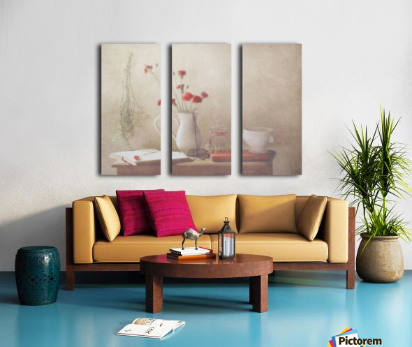 The Red Flowers Split Canvas print