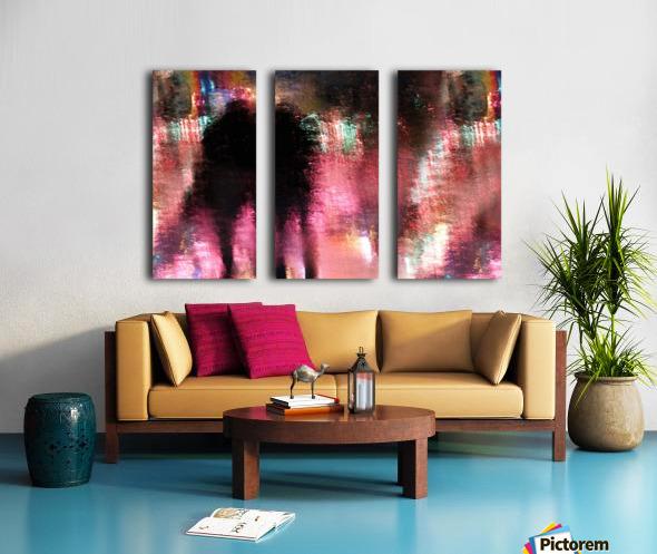 Rain above the funfair Split Canvas print