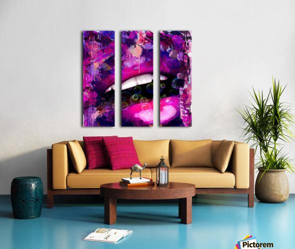 bouche love Split Canvas print