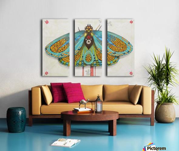 psychedelic butterfly Split Canvas print