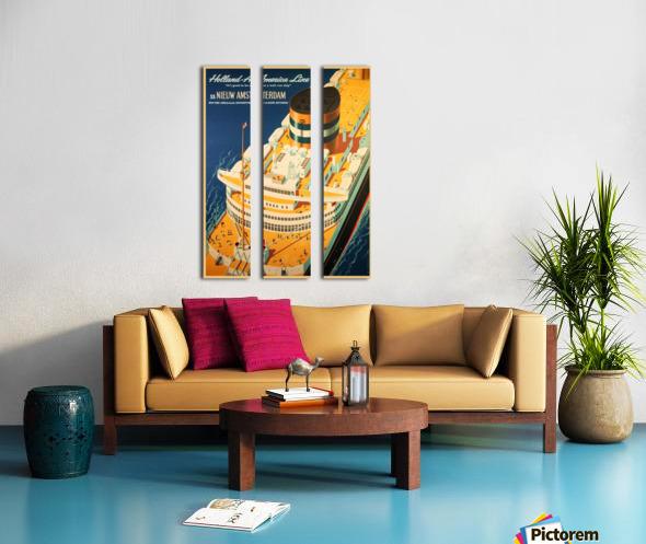 Holland - America Line vintage travel poster Split Canvas print