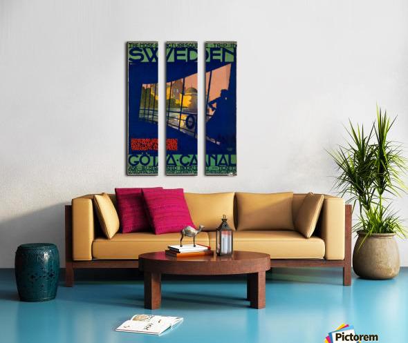 Sweden Gota Canal travel poster Split Canvas print