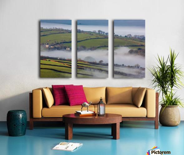 Agricultural mist Split Canvas print