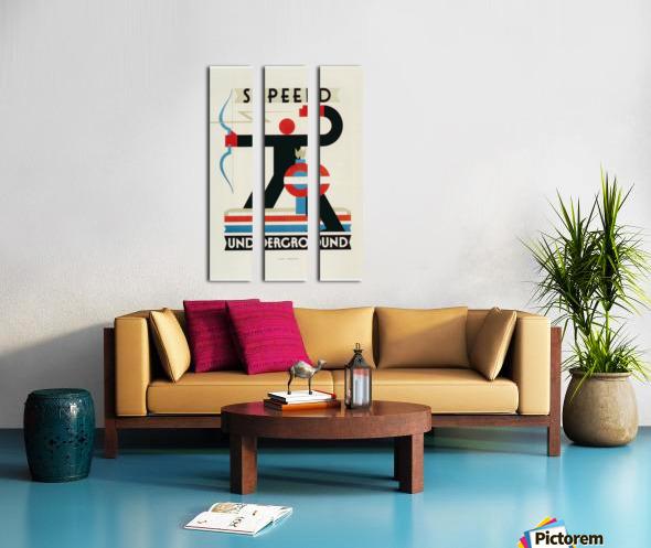 London Speed Underground poster Split Canvas print