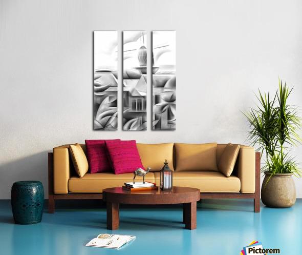 Schiedam 21-08-16  Split Canvas print