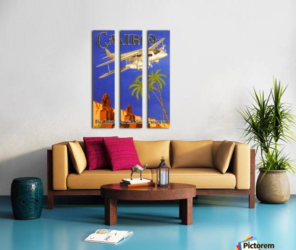 Cairo By Imperial Airways Split Canvas print