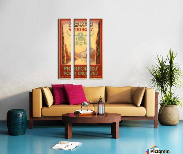 Cruise Ship Art Deco travel poster Split Canvas print