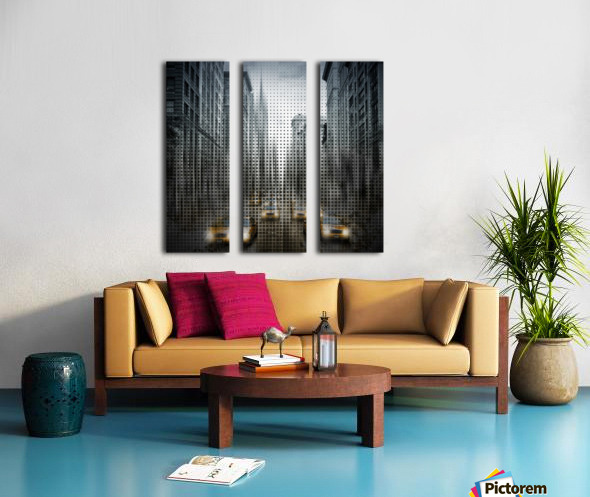 Graphic Art NYC 5th Avenue Traffic V Split Canvas print