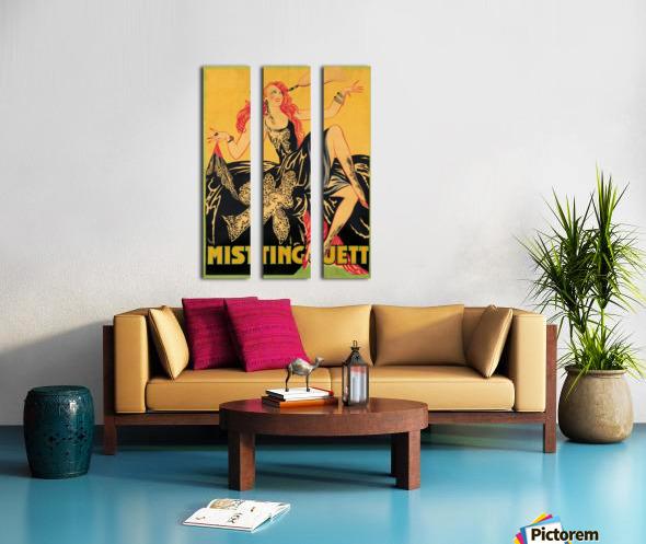 Mistinguett poster, 1920 Split Canvas print