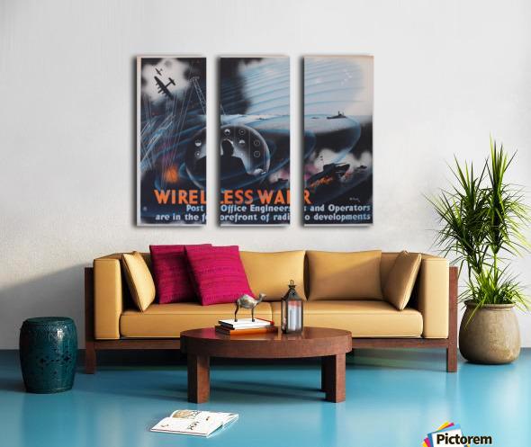 Wireless war Split Canvas print
