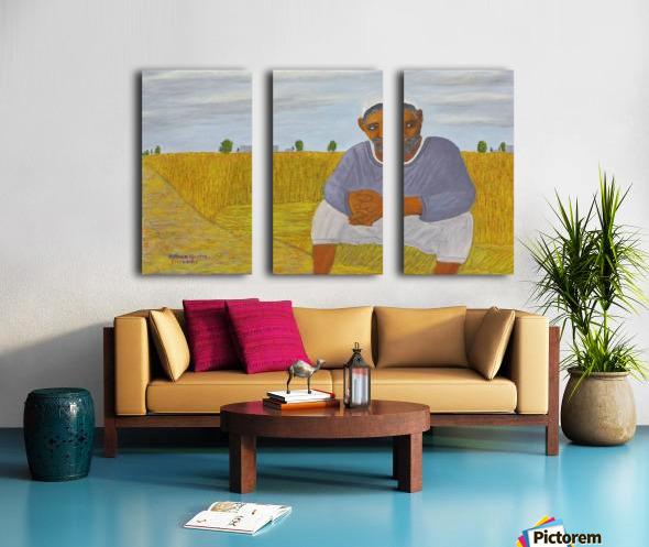 The wheat farmer Split Canvas print