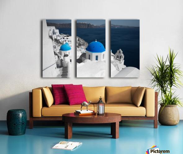 Blue Church Split Canvas print