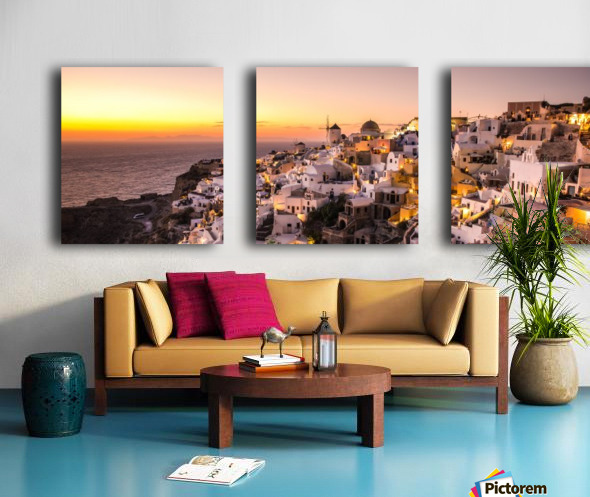 Oia Sunset Split Canvas print