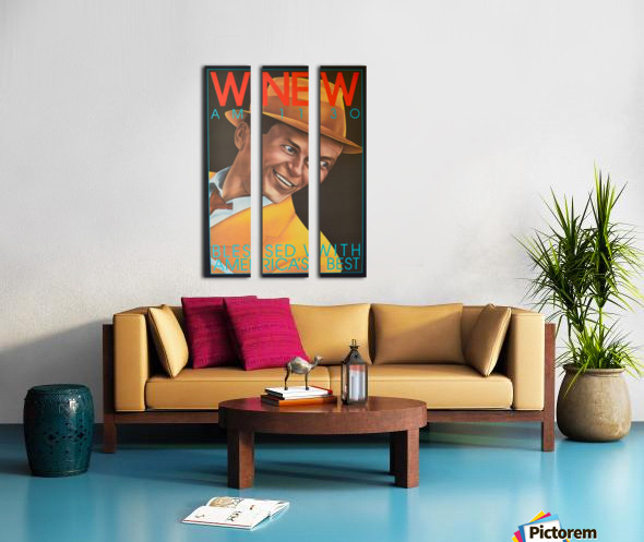 WNEW Split Canvas print