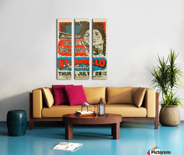 James Brown Split Canvas print