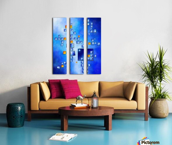 Cublerossia V1 - falling cubes Split Canvas print