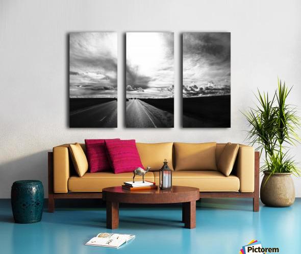 Open Road Split Canvas print