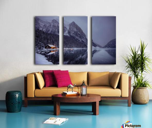 Winter Lake Louise  Split Canvas print