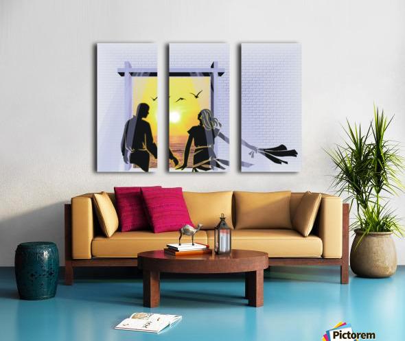 The Couple Split Canvas print