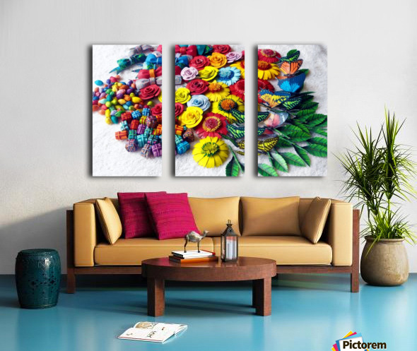 Collection of Decor Items Split Canvas print