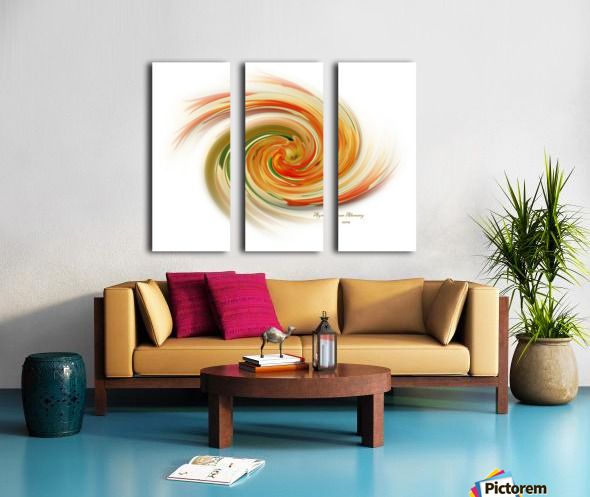 The whirl, W1.6A Split Canvas print