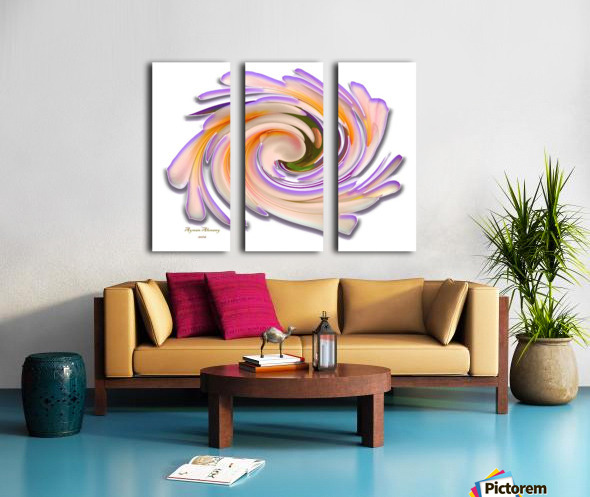 The whirl, W1.8A Split Canvas print