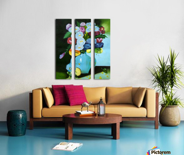 Floral Galaxy Split Canvas print