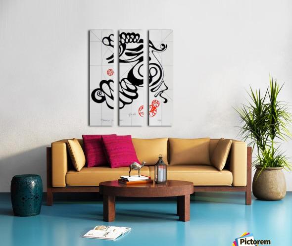 Qi air Split Canvas print