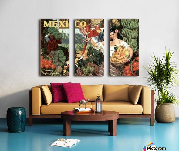 Mexico Land of Tropical Splendor Split Canvas print