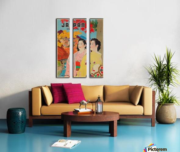 Japan Autumn in Nikko travel poster Split Canvas print