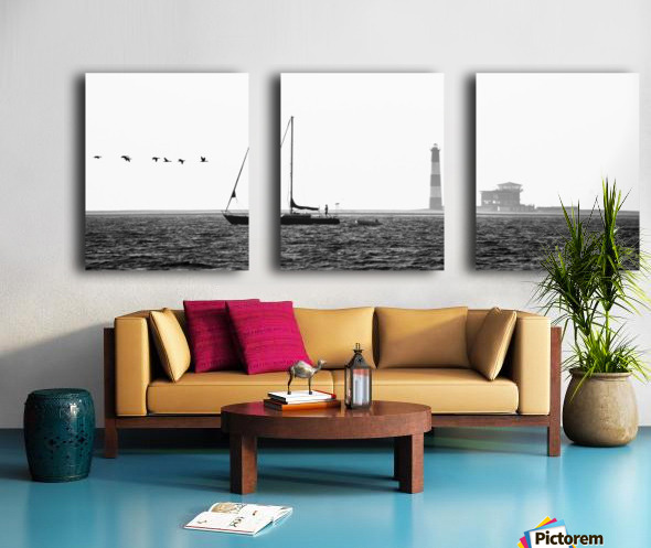 Passing by the Lighthouse Split Canvas print