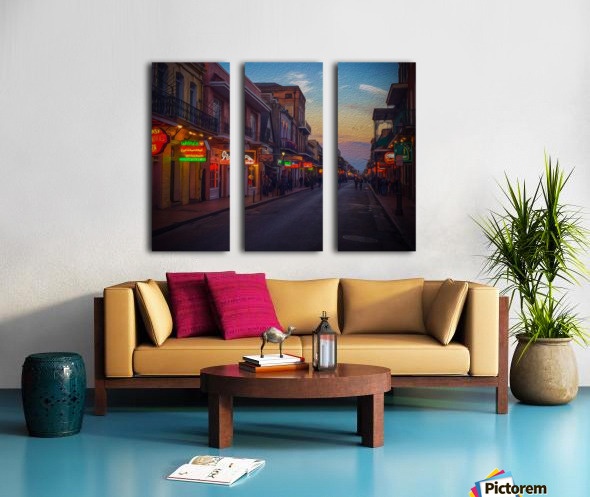 Evening in the Big Easy Split Canvas print