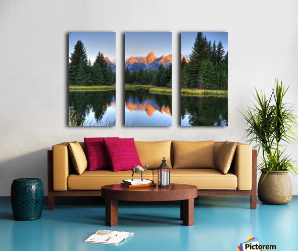 Beavers View of Tetons Split Canvas print