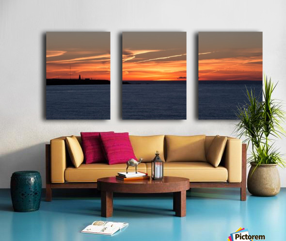 Orange Skies Split Canvas print