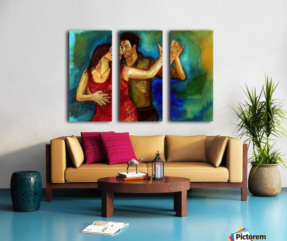 dancers Split Canvas print
