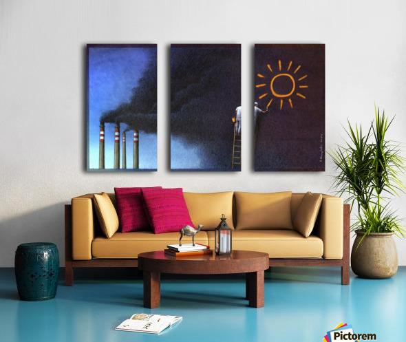 Sun Split Canvas print