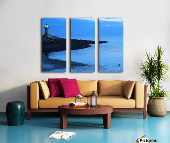 Evening fishing Split Canvas print