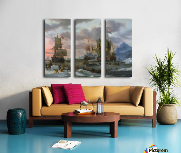 Walvisvangst Split Canvas print