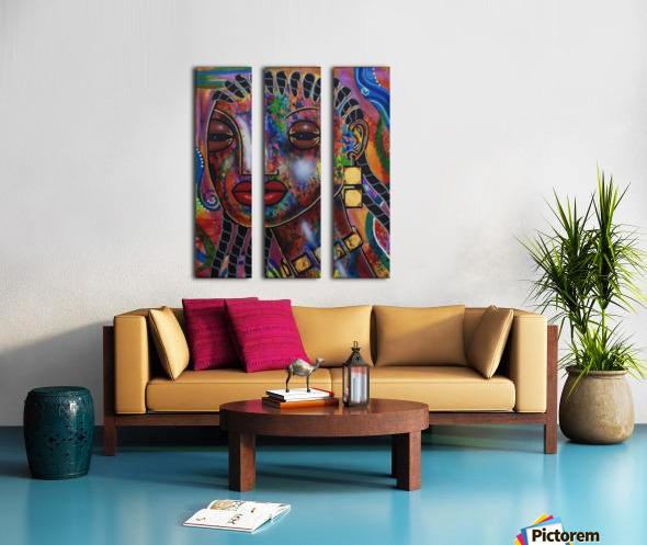 Girl with Braids Split Canvas print
