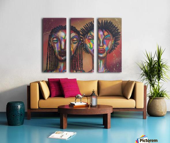 soulmates Split Canvas print
