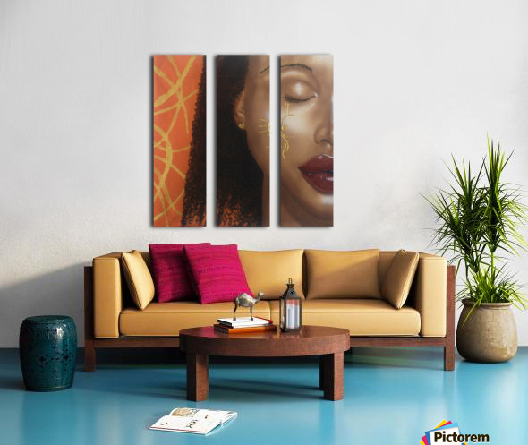 Orange Split Canvas print