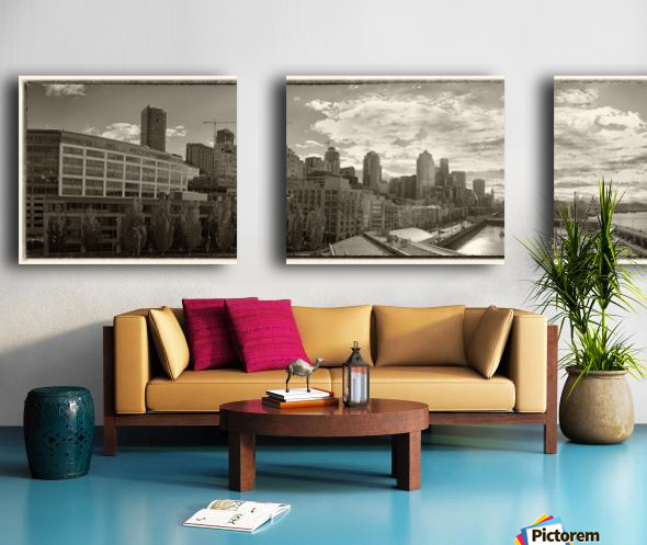 Panoramic Seattle Water Vista Split Canvas print